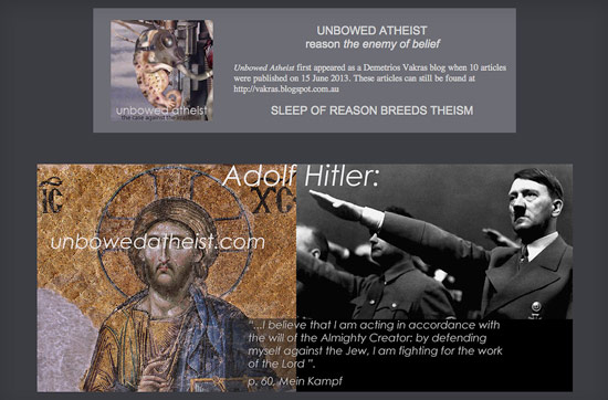 unbowed atheist - a site against religious kooks